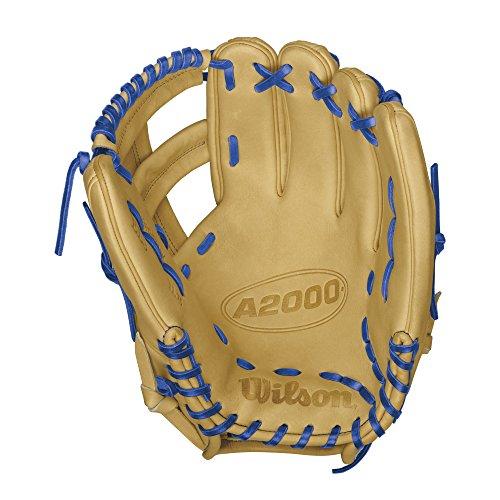 Wilson A2000 EL3 Infield Baseball Glove, Blonde/Royal