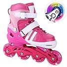 WeSkate Inline Skates for Kids Teen Women with Light Up Wheels, Illuminating Roller Skates for Beginner Outdoor Fitness