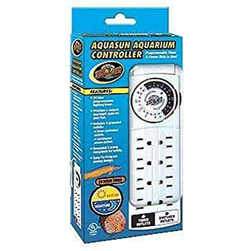Zoo Med AquaSun Aquarium Controller Timer & Power Strip, White