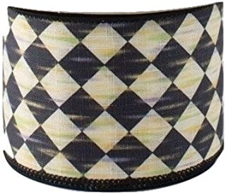 Best black and cream check ribbon Reviews