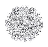 EVER FAITH Women's Austrian Crystal Elegant Flower Wedding Corsage Brooch Pin Clear Silver-Tone
