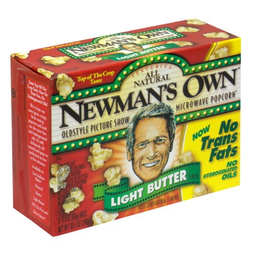 Buy Bargain Newman's Own Lite Butter Microwaveable Popcorn, Gluten Free, 10.5000-ounces (Pack of 6)