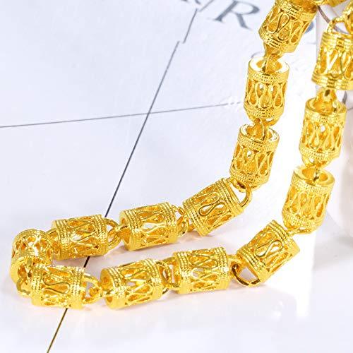 ZWJ Collar De Grifo Cadena De Oro Chapado En Oro De Imitación Masculina La Cadena De Cuentas De Dinero En Moneda Europea No Se Desvanecerá Durante Mucho Tiempo