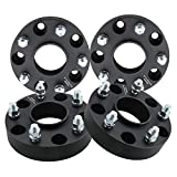DCUAUTO 4pc 5x5.5 Hubcentric Wheel Spacers Compatible with Dodge Ram 1500 5 Lug, 1.5' Wheel Spacer with 14x1.5 Studs fit for 2012-2018 Ram 1500(Only Vehicle with M14x1.5 Lugs)