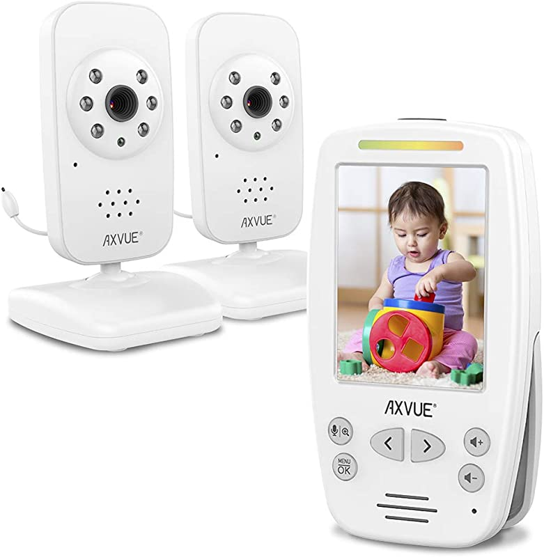 Video Baby Monitor With Two Cameras And Comfort Designed Screen By Axvue Model E662