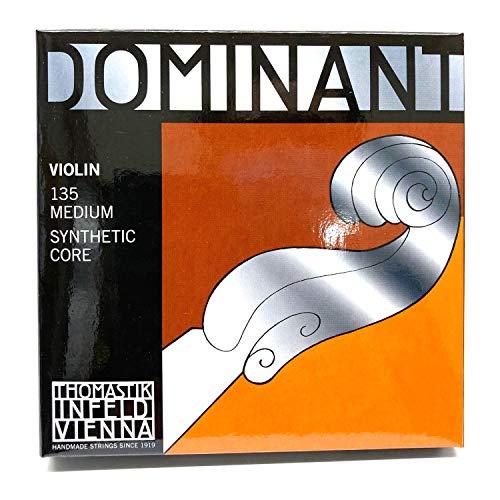 Thomastik 633625 Saiten für Violine Dominant Nylonkern, Satz 4/4 Mittel E Stahlkern Alu. Umsponnen