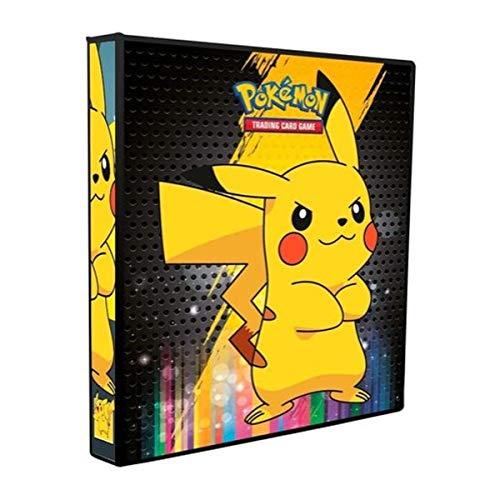 Álbum Pokémon Fichário PIKACHU + 10 Folhas Plásticas de 9 Bolsos YES