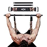 INNSTAR Bench Press Band with Detachable Bar, Adjustable Push Up Resistance Bands, Portable Chest Builder Workout Equipment, Arm Expander for Gym, Fitness, Home & Travel(Camo Desert Brown-200LB)