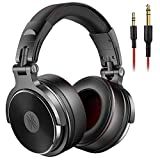 OneOdio Adapter-Free DJ Headphones for Studio Monitoring and Mixing,Sound Isolation, 90° Rotatable Housing with Top Protein Leather Earcups, 50mm Driver Unit Over Ear DJ Headsets with Mic-PRO 50 budget mp3 players May, 2021