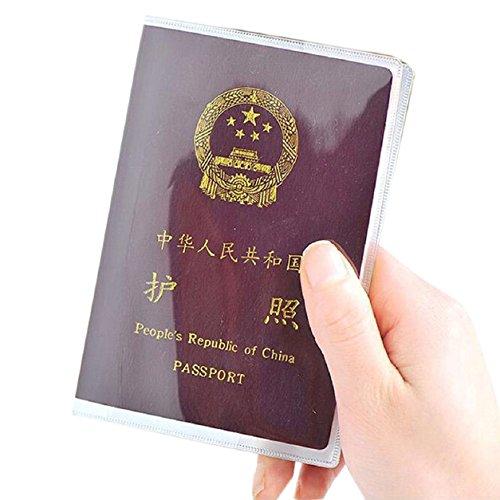 Funda transparente viajar pasaporte funda cubierta