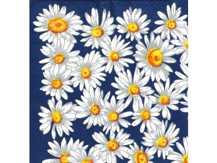 Gen 13 20 Serviettes en Papier Marguerites 33x33cm - Fleurs Blanches - serviettage