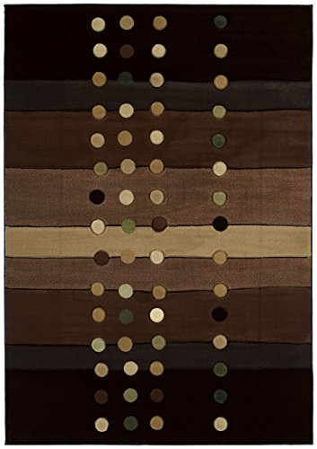 United Weavers of America Contours Collection Cascades Heavyweight Heatset Olefin Rug, 1-Foot 10-Inch by 2-Feet 8-Inch, Chocolate