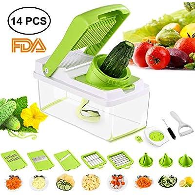 Cheap Mandoline 14 In 1 Vegetable Slicer Food Cutter