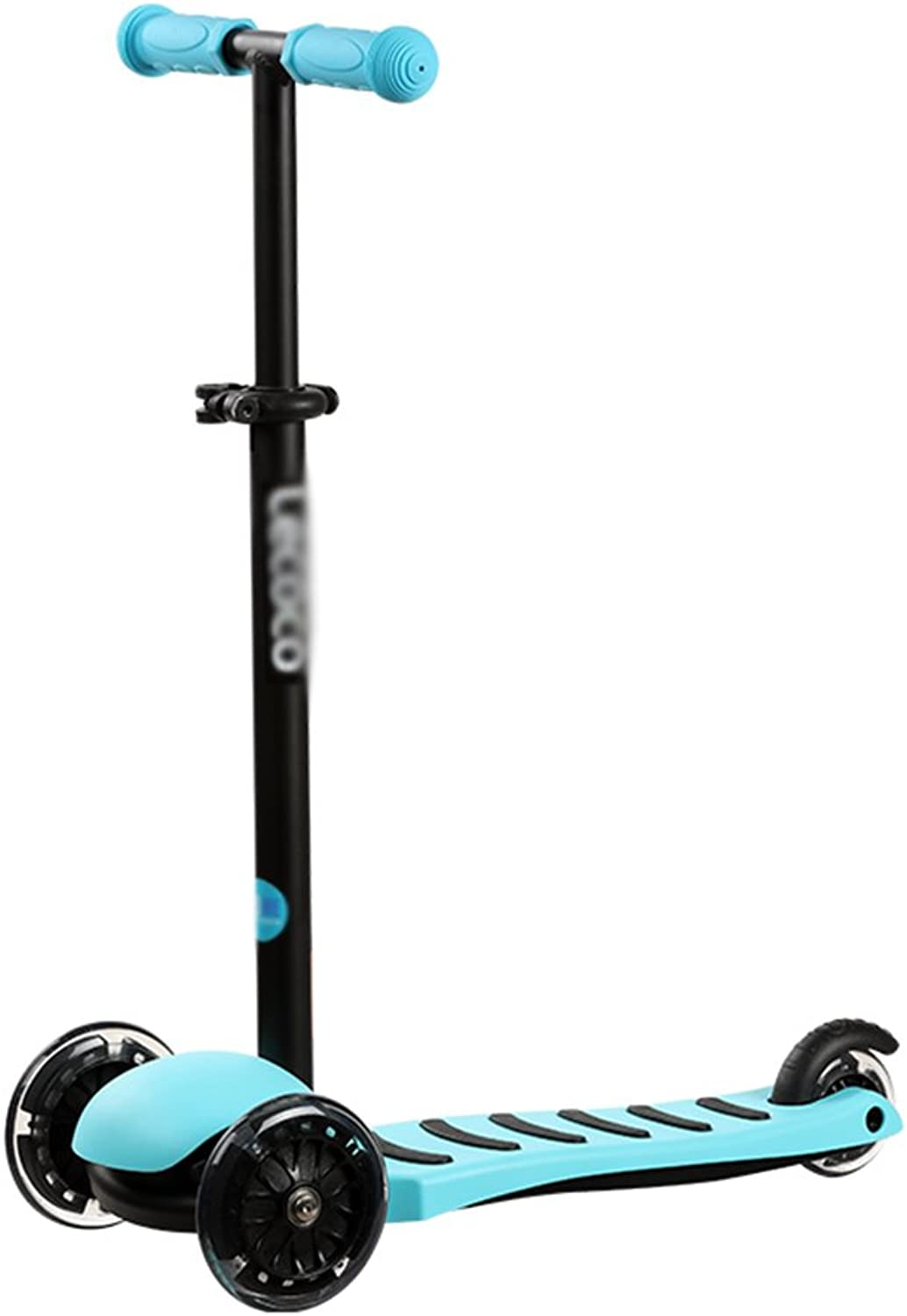 Baby sled Baby Scooters with Adjustable Height Intelligent Gravity Steering ThreeWheel Flash Scooters (color   blueee)