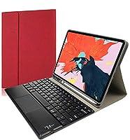 ipad pro 12.9キーボードカバー 2020 バックライト機能 タッチパッド付き 脱着式Bluetoothキーボードと保護ケース2020年型アイパッドプロ12.9 キーボード付き カバー (ワインレッド)