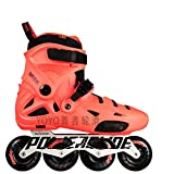 ME-Rollerns Powerslide Professional Slalom Patines en línea Zapatos de Patinaje sobre Ruedas para Adultos Patines de Patinaje Libre deslizantes Orange 41-42
