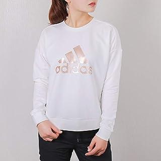adidas 阿迪达斯女装上衣 春季 运动服圆领防风舒适休闲卫衣套头衫