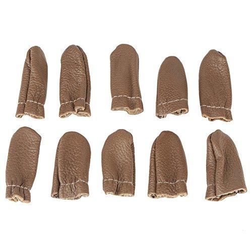 Leren vingerbescherming bescherming vingerproducten viltnaald duim wijsvinger gereedschap voor jongeren volwassenen beginners