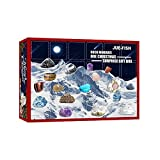 NATIONAL GEOGRAPHIC Advent Calendar 2021 - Rocks, Minerals & Fossils Advent Calendar for Kids & Geology Enthusiasts, a Complete Rock Collection Christmas Countdown Calendar with Mini Gemstone Dig Kit (A)