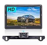 Yakry 2020 New HD Wireless Backup Camera 5'' Monitor Kit Reversing License Plate Camera System for Cars,SUVs,Minivans Back Up Lines DIY Y32