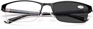 Multifocale Leesbril, Metal De Half-Frame Spring Scharnieren Rectangle Style Lezers Intelligent Automatic Zoom Photochrome...