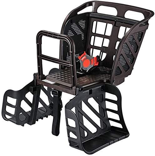 DINGL Fahrrad-Rücksitz mit Rückenlehne Kindersicherheits-Bike Rear Seat for 1-6 Jahre alt, Kinder Kindersitze geeignet for Berg Faltrad 620 (Color : D)