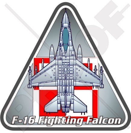 General Dynamics-Lockheed F-16 Fighting Falcon POLEN Polnische Luftwaffe 95mm Auto & Motorrad Aufkleber, Vinyl Sticker