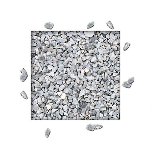 25 kg Marmorsplitt Eisblau Ziersplitt Deko Marmor Dekoration Splitt Zierkies Körnung 8/16 mm