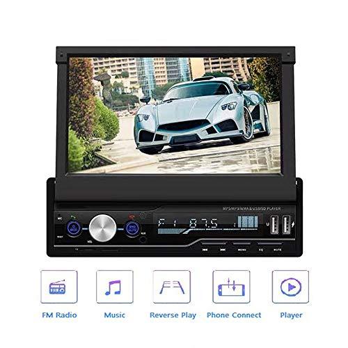 Hakeeta TDA7388 Autoradio, 7'' touchscreen scherm uitschuifbaar, stuurwielbediening, Bluetooth handsfree, RDS, USB, AUX, compatibel met Android