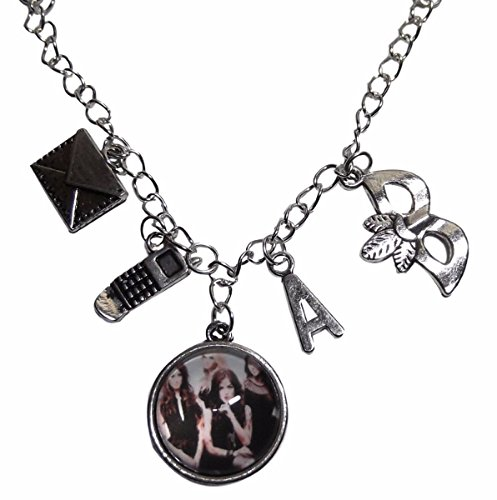 New Horizons Production Pretty Little Liars Glass Domed Pendant Necklace W/ Charms