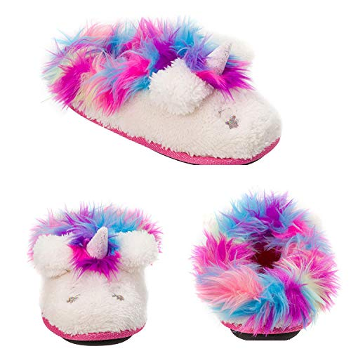 Dearfoams Girls' Kid's Whimsical Clog Slipper, Paradise Pink, 7-8 Toddler