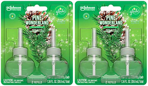 Glade Scented Oil Refills - Pine Wonderland - Holiday Collection 2020-2 Count Oil Refills Per Package - Pack of 2 Packages