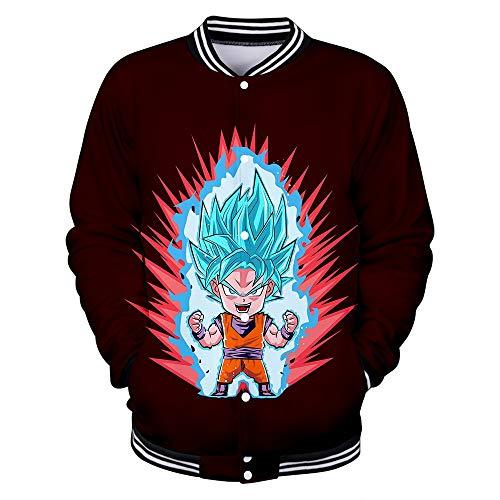 Hengye Technology Bomberjacken für Herren und Damen, einschließlich Dragon Ball-Baseballuniformen, Bequeme, schmale Sweatshirts aus 100%...