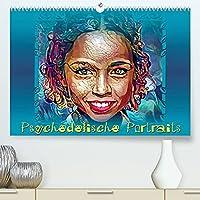 Psychedelische Portraits (Premium, hochwertiger DIN A2 Wandkalender 2022, Kunstdruck in Hochglanz): Digital gemalte Portraits in abstrakter, farbenfroher Bearbeitung. (Geburtstagskalender, 14 Seiten )