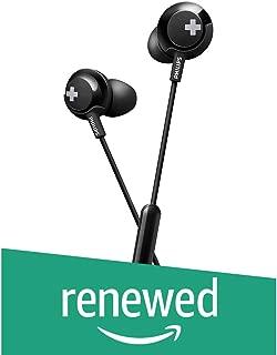 (Renewed) Philips Bass+ SHE4305 Headphones with Mic (Black)
