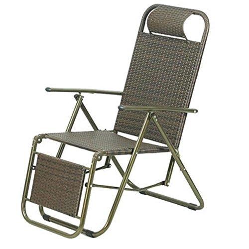 QIDI Chaise Longue Pliable Simple Rotin 92 * 59cm