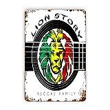 CIKYOWAY Carteles de metal The Lion Of Judah Rasta Rastafari Jamaica Reggae, cartel de chapa, pintura de hierro para pared, decoración de pared, arte, placas retro, cartel, placa colgante, regalo, pa