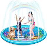 Ucradle Splash Pad, 170CM Sprinkler Matte Kinder Wasserspielzeug Garten wasserspielzeug Sprinkler mit Ozeanmuster Sommer Outdoor wasserspiel für Baby, Kinder, Hund und Haustiere Garten - Aufblasbar
