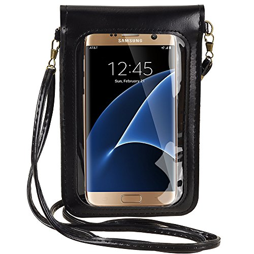 Jlyifan Fashion Flower Design Crossbody Touch Screen PU Leather Cell Phone Case Pouch Bag for Samsun - http://coolthings.us