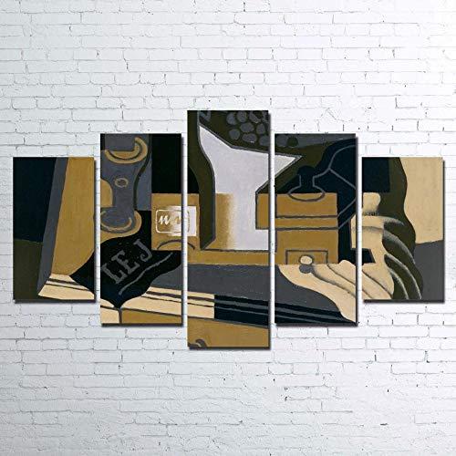 13Tdfc 5 Teilig Leinwand Wanddeko Die Kaffeemühle Malerei Leinwanddrucke Geschenk 5 Stück Leinwand Bilder Moderne Wandbilder XXL Wohnzimmer Wohnkultur 150X80Cm