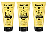 3 Pack Bee Bald SHAVE Premium Shave Cream (6 fl. oz.)