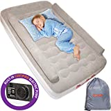 KareCaddy Toddler Air Mattress - Kids AirBed with Built-in Electric Pump, Kids Air Mattress with...