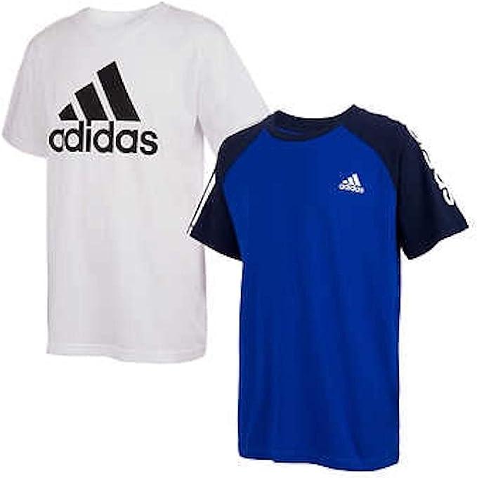 adidas Youth Boy's Short Sleeve 2 Pack T-Shirt Set