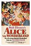 Unbekannt Walt Disney 's Alice Im Wunderland Film Poster