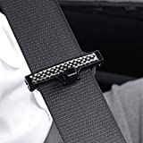 nobranded Car Seat Belt Adjuster, Seatbelt Clips | Smart Adjust Seat Belts to Relax Shoulder Neck Abdomen, Adjustable Car Safety Belt Clamp Slip-Resistant Seat Belt 2 Pcs Black
