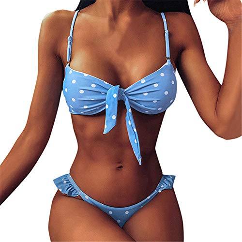 Vrouwen Badpak Bikini Set, Dot Print Beach Bikini Set Ladies Holiday Swimwear Zwembad Swimsuit Suit Biquini,XL