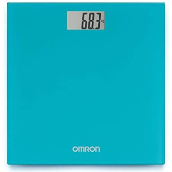 Omron HN 289 (Blue) Automatic Personal Digital Weight Scale With Large LCD Display and 4 Sensor Technology For Accurate Weight Measurement