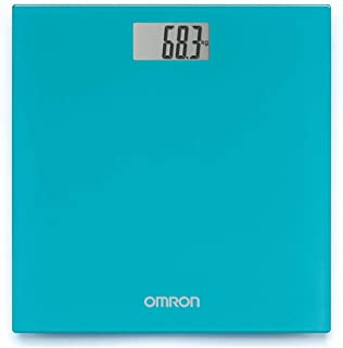 Omron HN 289 (Blue) Automatic Personal Digital Weight Scale With Large LCD Display and 4 Sensor Technology For Accurate We...