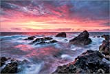 Poster 130 x 90 cm: Sonnenuntergang in Lanzarote bei den