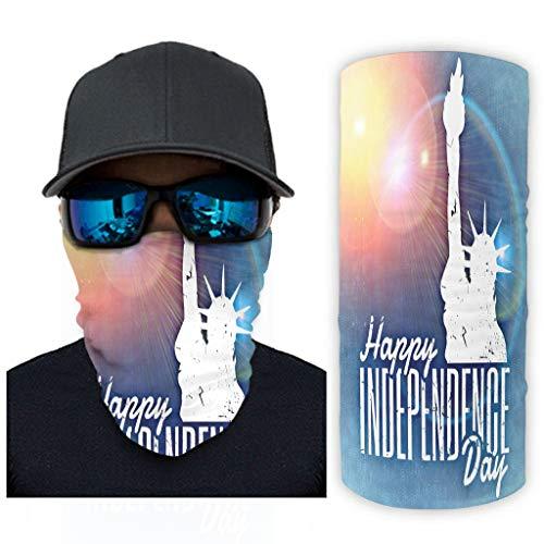 Bestwe – Día de la Independencia de América, 12 en 1, resistente a los rayos UV, para festivales musicales, equitación, exterior y mujer, blanco, talla única